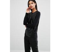 Mendic Pullover aus Leder und Spitze Schwarz