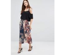 Weit geschnittene Hose mit Muster Mehrfarbig