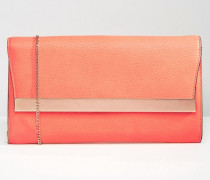 Clutch mit Metallschiene Orange