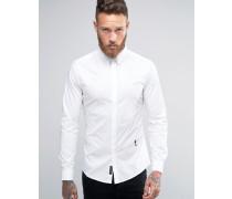 Elegantes Stretchhemd Weiß