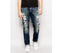 Geno Jeans in Rough City-Waschung Blau