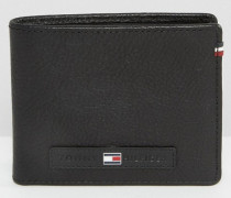 Brieftasche aus Leder Schwarz