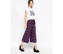 Hosenrock mit Batikdruck Violett