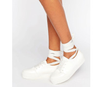 DENVER Sneaker mit Knöchelschnürung Weiß