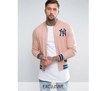 Yankees Letterman-Jacke aus Fleece, nur bei ASOS Rosa