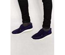 Ohh Sneakers aus Wildleder Marineblau