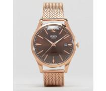 Harrow Goldene Uhr mit Netzarmband Gold
