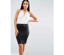 2-in-One-Kleid Cremeweiß