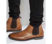 Boxley Chelsea-Stiefel aus Leder Bronze
