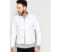 Weiße Jeansjacke Weiß