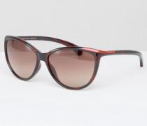 CK Jeans Sonnenbrille in Katzenaugenform Braun