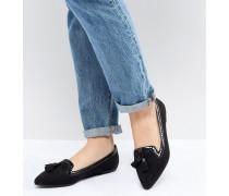 Locker - Spitz zulaufende flache Loafer im Ballerinastil