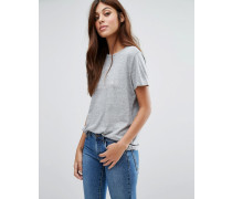 Buckeridge Boyfriend-T-Shirt mit Logo Grau