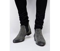 Chelsea-Stiefel aus Wildleder Grau