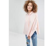 Oversize-Baumwollhemd mit Seitenschlitzen Rosa