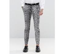 Superenge elegante Hose mit Leopardenprint Grau
