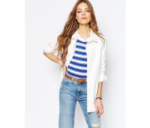 M.i.h. Jeans Denim Hemd-Jacke Cremeweiß