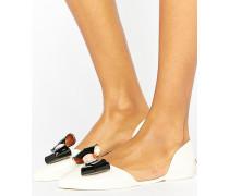 Jelly-Schuh mit Metallschleife Weiß