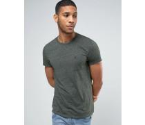Schmal geschnittenes T-Shirt mit Tasche in Tanne Grün