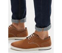 Hellbraune Derby-Schuhe Bronze