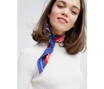 Leichtes Halstuch mit Streifen Mehrfarbig