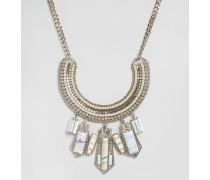 Auffällige Halskette mit Halbedelstein Mehrfarbig