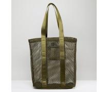 LIFESTYLE Shopper-Tasche mit Netz- und Webeinsätzen Grün