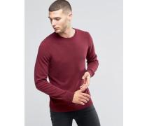 Pullover aus Kaschmirwollmischung mit Rundhalsausschnitt Rot