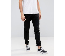 Enge Jeans in Tiefschwarz Schwarz