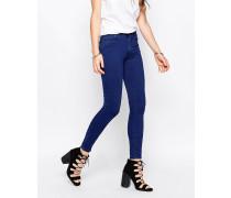 Storm Mittelhoch geschnittene, enge Jeans in Reinblau Blau