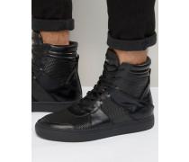 Knöchelhohe Sneaker mit Reißverschluss Schwarz