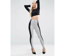 Enge Hose mit elastischem Taillenbund und Reißverschlüssen in Blockfarben Grau