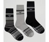 Socken im 3er-Pack in Geschenkbox Schwarz