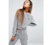 Sweatshirt aus luxuriösem Velours, Kombiteil Grau