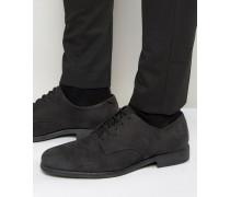 US-Derby-Schuhe aus Leder Schwarz