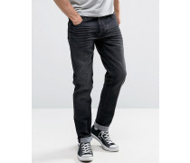 Slim Fit Jeans In Light Blue Wash With Stretch Blau