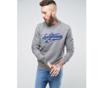 Sweatshirt mit College-Logo Grau