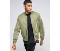 Bomberjacke mit Waschung und MA1-Tasche in Khaki Grün