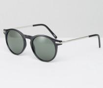 Sonnenbrille mit Metallbügeln Schwarz