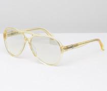 CK Platinum Visor-Sonnenbrille in Blassgelb Gelb