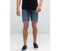 Levi's 501 Gesäumte Jeansshorts in mittlerer Destiny-Street-Waschung Blau