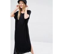 Übergroßes T-Shirt-Kleid Schwarz