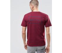 T-Shirt mit Logo auf der Rückseite Rot