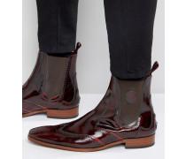 Scarface Chelsea-Stiefel aus Leder Rot