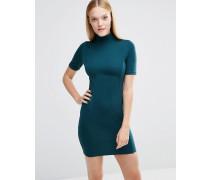 Hochgeschlossenes, figurbetontes Kleid Grün