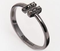 Verstellbarer Ring mit Schmucksteinen Silber