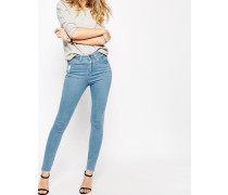 RIDLEY Enge Jeans in Primrose-Waschung Blau