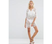 Häkel-Strandkleid Weiß