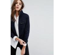 Jeansjacke mit Reißverschluss Blau
