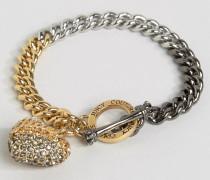 Kettenarmband mit Herzanhänger und Farbverlauf in Champagner Gold